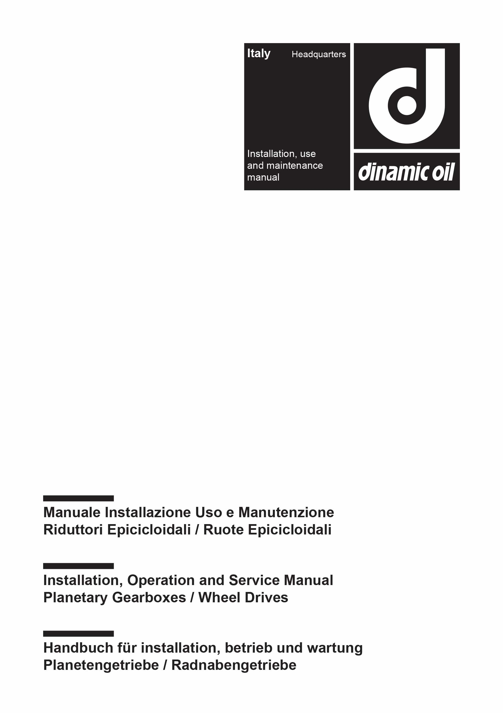 Planetary Gearbox Manual