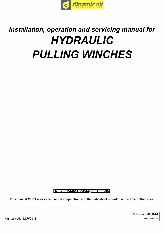 Planetary Winch Manual