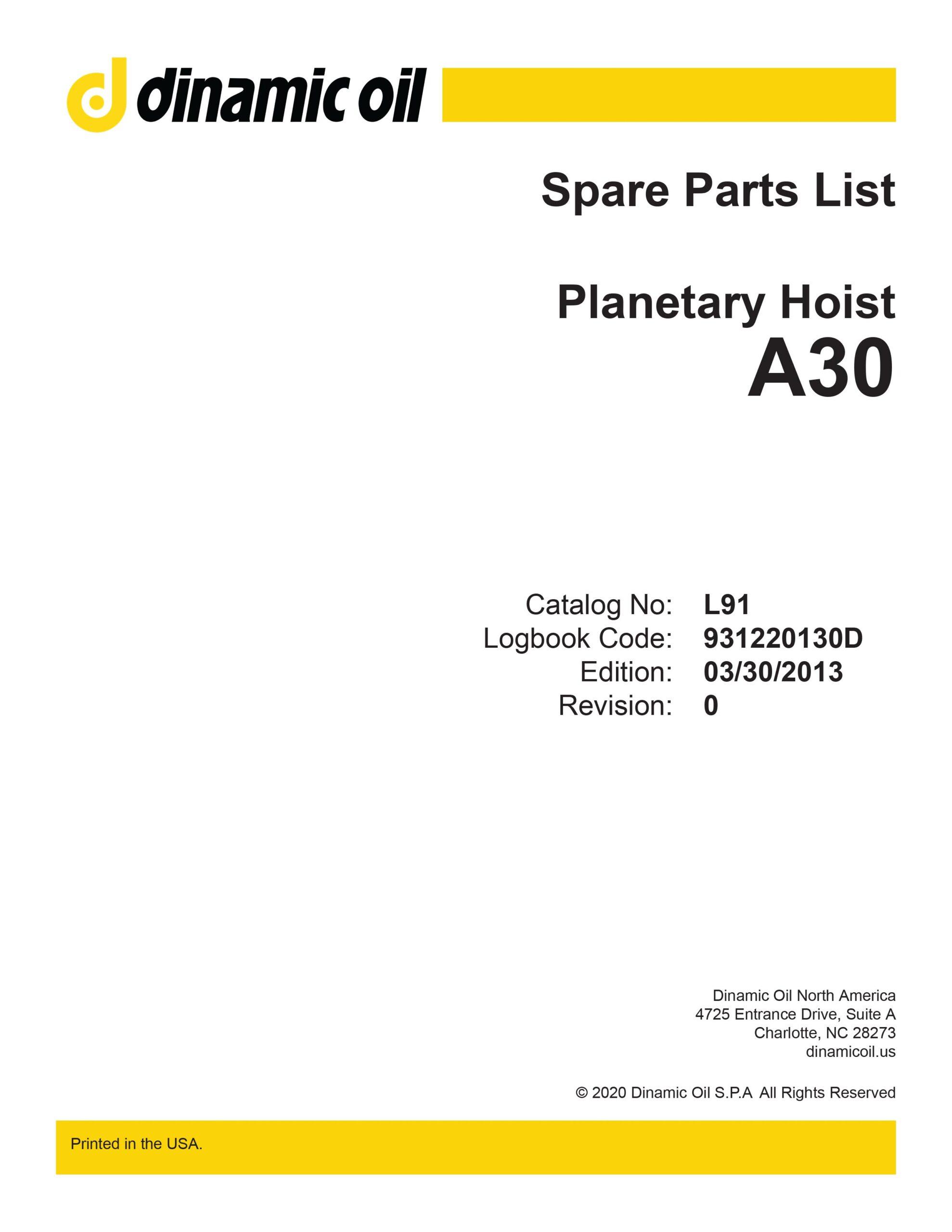 Planetary Hoist A30